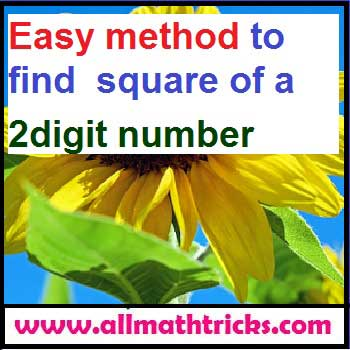 Easy method to find square of a 2digit number -all math tricks