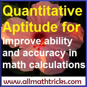 Quantitative Aptitude math | allmathtricks.com