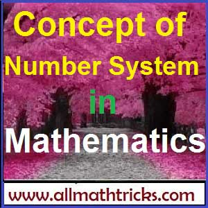 The Concepts of number system the mathematics