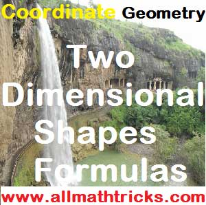 Two dimensional shapes formulas of area and perimeter calculation