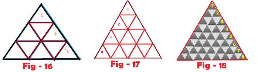 number of triangles with given parts | Find the number of triangles in the given figure