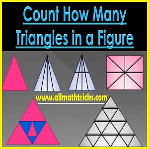Find the Number of triangles in the given fig |Count the