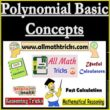 Polynomial Definition | Degree of a Polynomial | Types of Polynomials | Polynomial Concept
