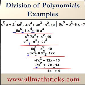 Dividing polynomials long division examples with solutions | polynomial long division examples | Dividing Polynomials by monomials, trinomials & Quadratics