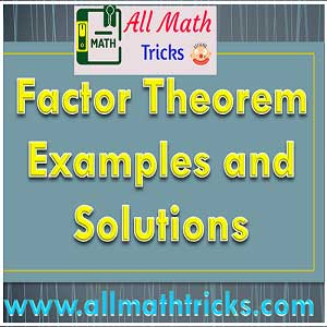 Factorise the Polynomial by using Factor Theorem | allmathtricks