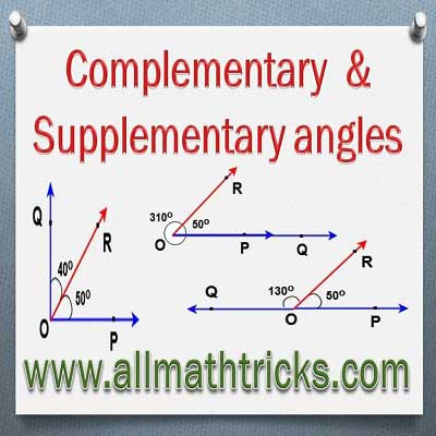 Supplementary and Complementary Angles | Different Types of Angle pairs in Geometry | Complementary Angles | Supplementary Angles |Conjugate Angles |Congruent angles