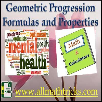 geometric progression formulas and properties | arithmetic and geometric progression question and answers