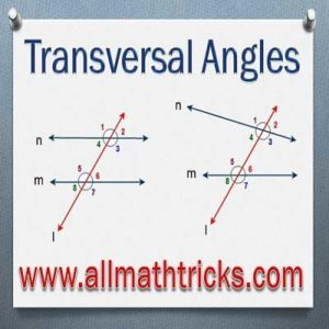 Transversal Angles | Angles formed by parallel lines and transversal Line
