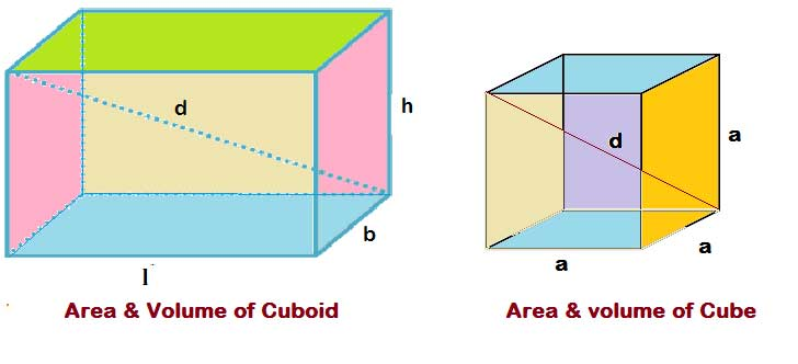 Surface Area and volume of cuboid and Cube Formulas with Examples | Allmathtricks
