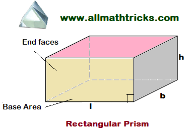 surface area and volume of a Rectangular Prism   prism formulas